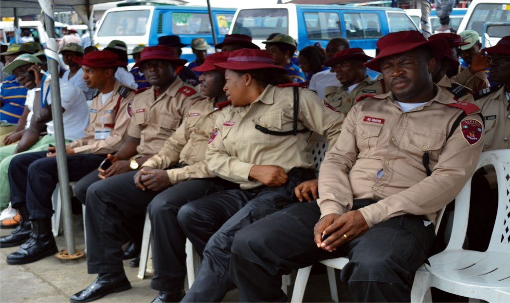Cross section of corps members during the campaign rally on don't drink and drive organised by FRSC at Mile 3 Park Port Harcourt recently.     Photo: Nwiueh Donatus Ken