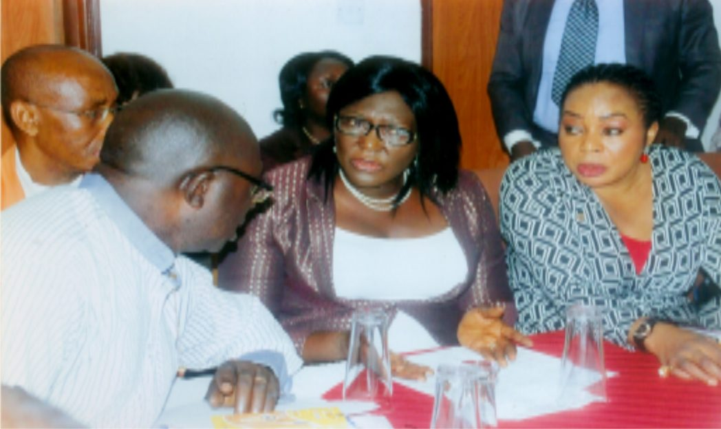 L-R: Former GM, RSNC, Mr. Augustine Nwikinaka, Perm. Sec., Ministry of Information and Communications, Rivers State, Mrs Cordilia Peterside representing  Hon. Commissioner for Information and Communications, Mrs. Ibim Semenitari, GM Radio Rivers, Ms Mediline Tador during one day capacity building workshop for broadcast journalist organised by Radio Rivers at Meridian Hotels, Rumuobiakani, Port Harcourt.              Photo: Egberi .A. Sampson