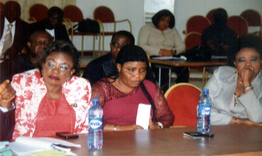 L-R: Members of Rivers State Primary Healthcare Management Board Pharm Elizabeth Odili, Mrs Beatrice Hubo and Mrs Mina LongJohn, during an oversight function meeting with Rivers State House of Assembly Ad-hoc Committee members, in Port Harcourt, recently.Photo: Chris Monyanaga