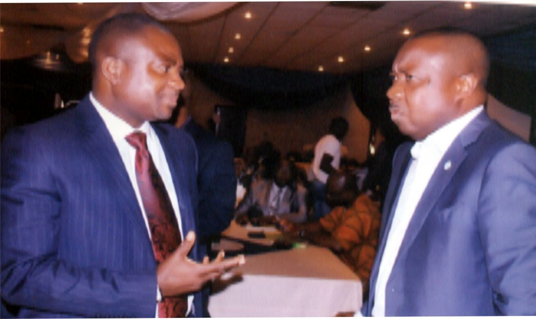 Executive Director, RSSDA, Mr. Noble Pepple (right),  with Mr. Sam Ogbemi Diabo, during the official launch of the RSSDA platform at Hotel Presidential, Port Harcourt  recently                   Photo: Obinna Prince Dele