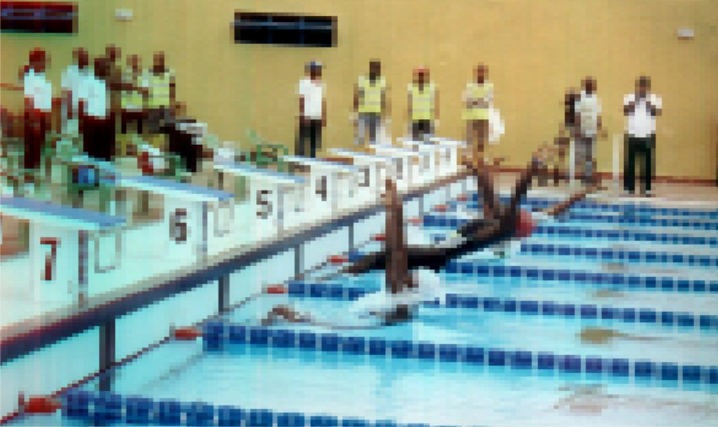 Swimmers in action at 17th NSF in Port Harcourt