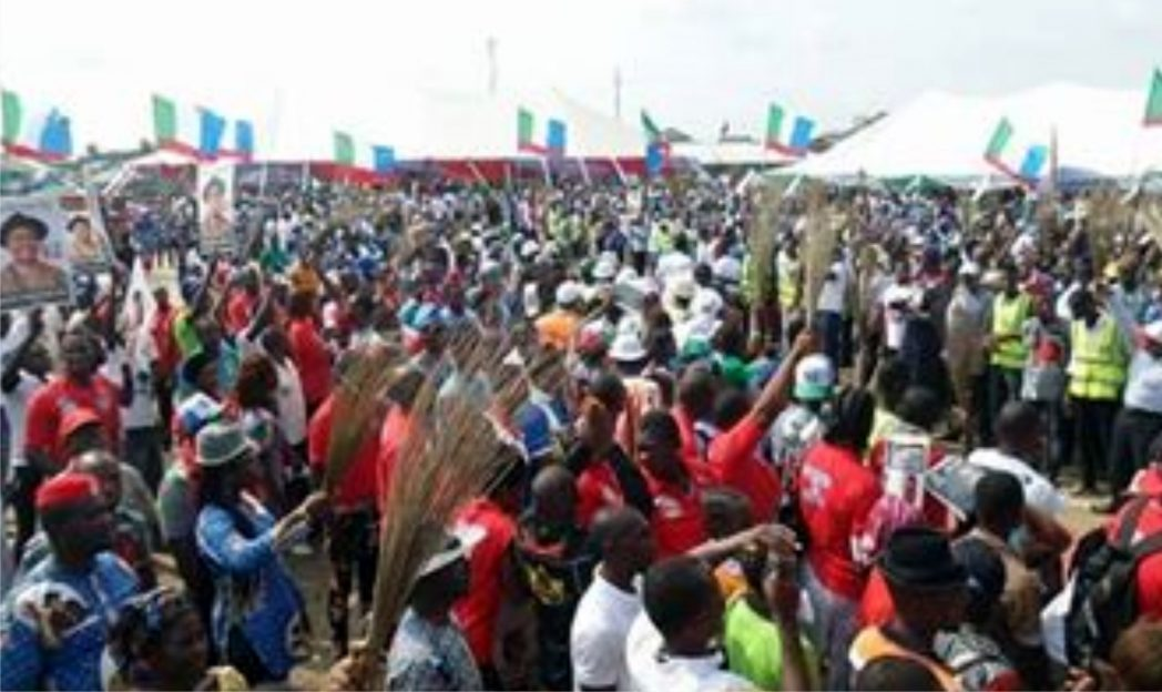 APC supporters at a governorship campaign rally in Rivers State, recently