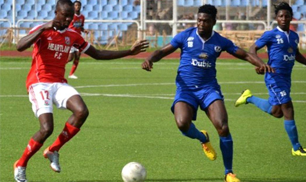 A Glo Premier League action between Heartland of Owerri and Enyimba International FC, Aba, last season