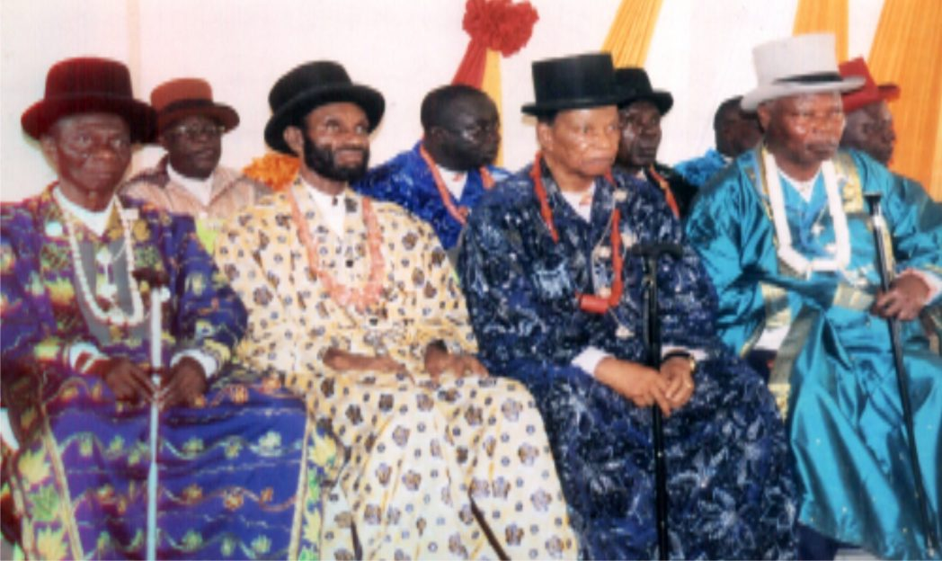 Cross  section of Okrika Divisional Council of Chiefs during the installation of the Editor, The Tide, Chief Soye Wilson Jamabo in Ogoloma recently.