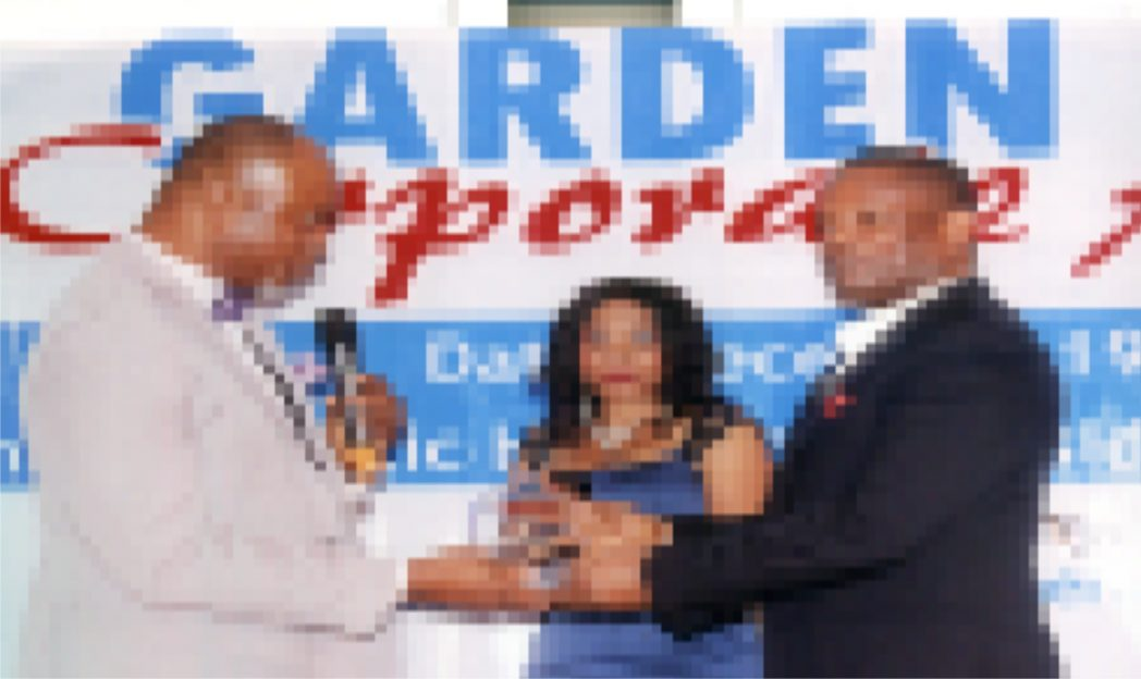Commissioner for Commerce and Industry Rivers State, Hon Chuma C. Chinye (left) presenting an award to Executive Director, MCC Nig Ltd., Mr Nelson Jaja (right) during the Garden City Corporate Award, organised by Ministry of Commerce and Industry at Atlantic Hall, Hotel Presidential, Port Harcourt recently.                                                                          Photo: Egberi A. Sampson
