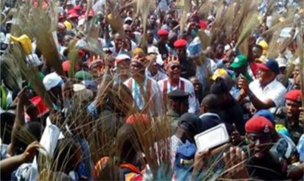 APC supporters at a campaign rally in Rivers State, recently