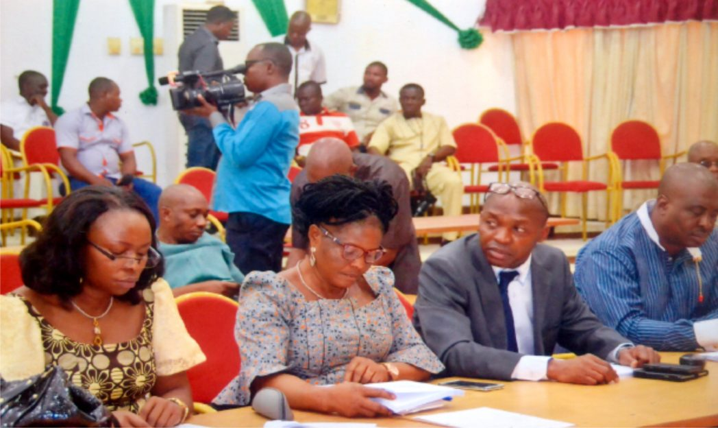 Cross section of lawmakers at a sitting during 2015 Appropriation Bill  presentation by the Governor of Rivers State recently.  Photo: Chris Monyanaga