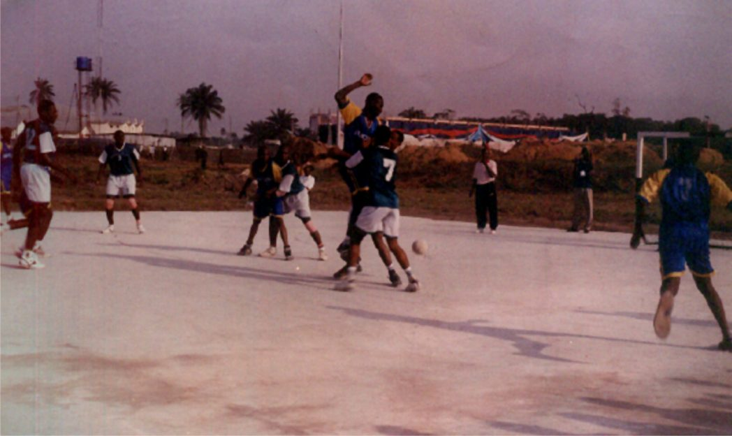 Handball players in action in a recent tourney