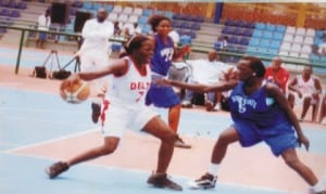 Female basketballers in contests during a past national compoetition