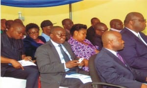 Cross section of guests at the offical flag-offf of the Rivers State Water Services Regulatory Commission (RSWSRC), in Port Harcourt, recently.