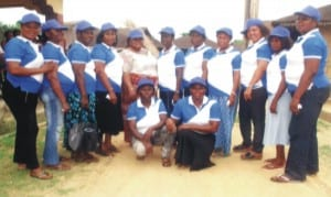 A group picture of the women's wing of Odual Peoples Assembly during the campaign