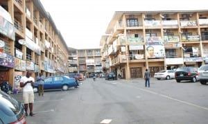 Closed shops at area ten shoping complex in Abuja last  Monday.                                                           Photo: NAN