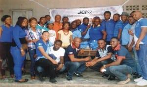Members of Junior Chamber International (JCI), Port Harcourt metropolitian, during a  free medical outreach in Bundu-Ama, Port Harcourt, recently.
