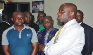 Rivers State Governor, Rt. Hon. Chibuike Rotimi Amaechi, during a condolence visit to the family of late Chief Christopher Adube, last Monday       Photo: NAN
