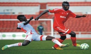 An action recorded in a previous clash between Kano Pillars and Enyimba in the Glo League