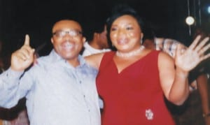 General Manager, Rivers State Newspaper Corporation, Mr Celestine Ogolo, with this Rivers State Broadcasting counterpart, Ms Mediline Tador, during the 12th edition of Easter Choral Festival in Port Harcourt, recently.Photo: Egberi A. Sampson