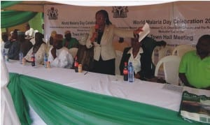 A town hall meeting held to mark the World Malaria Day Celebration.