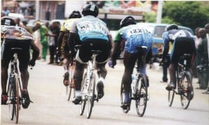 Cyclists competing in a recent national championship