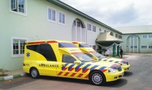 New Ambulances and Hospital Complex inaugurated by the Minister of State for Health, Chief Fidelis Nwankwo, at the Federal Teaching Hospital Abakaliki, recently.