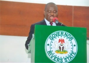 Rivers State Governor, Chief (Barr) Nyesom Wike proclaiming the 8th session of the Rivers State House of Assembly in Port Harcourt, last Monday.