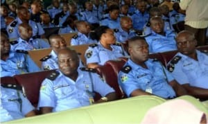 Cross Section of Police Officers at the press briefing of Rivers State new Commissioner of Police, Mr. Chris Okey Ezike in Port Harcourt, recently       Photo: Nwiueh Donatus Ken