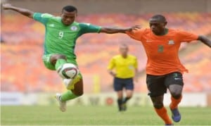 Dream Team VI's Peter Onyekachi (9) in action in a previous qualifying match.