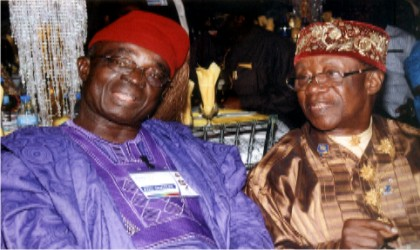 Former Deputy Governor Rivers State, PDG G.T.G Toby (right) with PDG. Charles .F. Lawani, during the installation of DG. Ijeoma Pearl Okoro as Governor, Rotary District 9140 and Aztech Arcum, Stadium Road Port Harcourt 11, July 2015Photo: Egberi  .A. Sampson