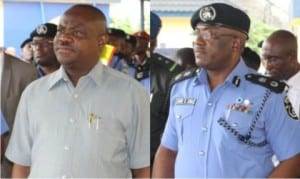 Rivers State Governor, Nyesom Wike and Rivers State Commissioner of Police, Chris Ezike