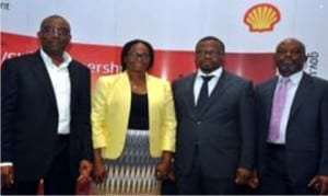 L-R: General Manager, Nigerian Content Development, Shell Nigeria, Chiedu Oba, Petroleum Technology Association of Nigeria (PETAN) Administrator, Jumoke Oyedun, Head of Nigeria Content Development, Shell Nigeria Exploration and Production Company of Nigeria, Austin Uzoka and PETAN's Publicity Secretary, Nik Odinuwe, at the just concluded Nigeria-UK Suppliers Engagement Programme sponsored by SNEPCo and its co-venturrs in Lagos, recently.