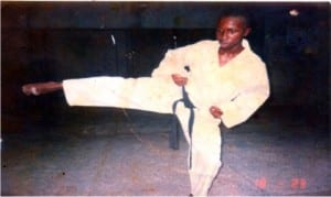 A Karateka in training.