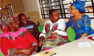 L-R: An associate of wife of former Governor of Lagos State, Mrs Yinka Yusuff, Resource Person, Mr Niyi Adedsanya, wife  of immediate past Governor of Lagos State and Chairperson, Leadership Empowerment and Resource Network (LEARN), Mrs Abimbola Fashola and immediate past Lagos State Commissioner for Commerce, Mrs Olusola Oworu, during a Leadership Empowerment and Resource Network Forum organised  by LEARN in Lagos, recently