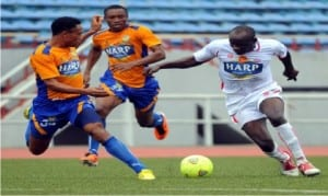 Battle of Harp shirts, a Globacom Premier League action recorded recently