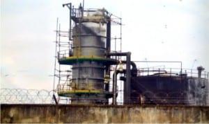 A production facility of Nigeria Agip Oil Company (NAOC)