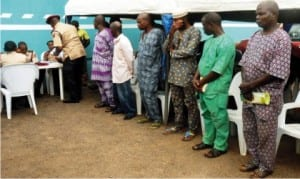 Some offenders at a mobile court, during an  inter-command patrol between Osun and Oyo States in  Ibadan recently