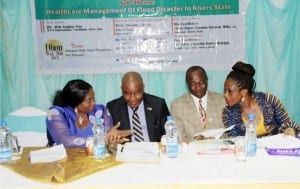 L-R: Rivers State Permanent Secretary, Office of the Deputy Governor,  Dr. Justina Jumbo, President Nigeria Medical Association, Rivers State branch, Dr. Furo Green, Prof. Nelson Chukwuemeka Nwankwo and the chairperson, Local Organizing Committee, Dr. Petrohilla Tabansi,during the Physicians Week organised by NMA  in Port Harcourt, recently.