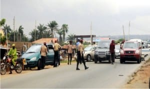 Federal Road Safety Corps officers, during an inter-command patrol between Osun and Oyo States in Ibadan recently