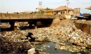 Ogunpa Canal literally overtaken by refuse dumped by residents of Ibadan