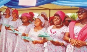 Civil servants' Choir, singing at the 2016 thanksgiging/dediction service organised by the Rivers State Government in Port Harcourt on Thursday. Photo: Chris Monyanaga