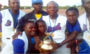 Nigeria's team celebrating with its Ruby trophy