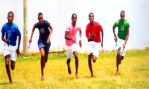 Youngsters honing their skills in athletics in a grassroot competition