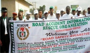 Members of Road Accident Information and rescue organisation, during the inauguration of emergency rescue information control centre  in Ibadan last Saturday.