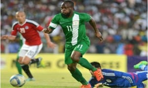 Super Eagles Victor Moses (11) his shots were not close enough to save Nigeria from the hands of the Pharaohs of Egypt twice