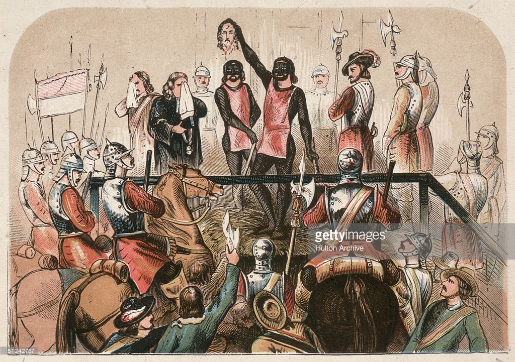 execution of king charles i essay 18012018  an eyewitness account of the execution of charles i charles went to his execution wearing two heavy shirts so c v, a coffin for king charles.