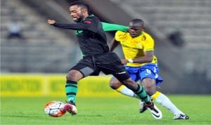 Enyimba striker running with the ball