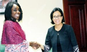Minister of Finance, Mrs Kemi Adeosun (left), welcoming the Managing Director of the World Bank, Sri-Mulyani Indrawati to the Ministry of Finance in Abuja recently.