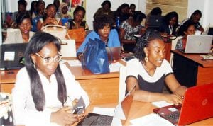 A cross-section of participants at a Digital Marketing Workshop for women organised by Women Technological Empowerment Centre, in Lagos on Wednesday.