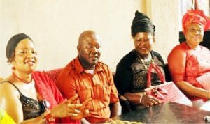 From right: Women Leader, Apc Enugu State, Lolo Ngozi Nwankwo, Deputy State Chairman of Apc, Comrade Alphonsus Ude, Financial Secretary of the Women Wing, Mrs Margreth Onovo, and Women Leader for Enugu South Apc, Mrs Uche Ani, during Apc Enugu State's stakeholders meeting to condemn herdsmen attack, in Enugu last Wednesday