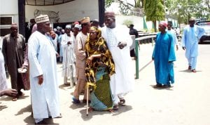 Bauchi State pensioners protesting over their unpaid four months entitlements in Bauchi last Friday