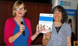 Programme Director, British Council Nigeria, Louisa Wadlingham (left), with the Principal Investigator, UCL Institute of Education, Elaine Unterhalter, presenting the report of findings on teacher education, teacher practice, gender and girls schooling outcomes in Abuja on Monday