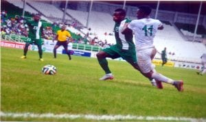 Nigeria Super Eagles in one of their friendly games
